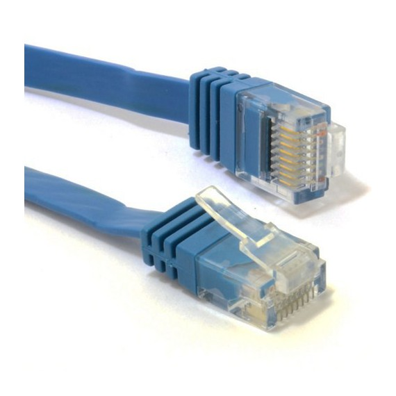 Cables Als cable reseau plat cat6 10m blue