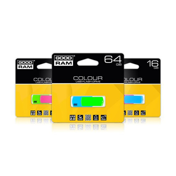 Flash Disque & Carte SD GOODRAM COLOUR MIX USB 16G