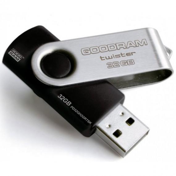 Flash Disque & Carte SD GOODRAM TWISTER BLACK 32G