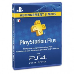 Play Station 4 Sony PS4 Carte PS Plus Abonnement 3 mois