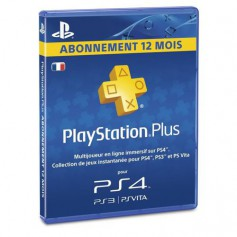 Play Station 4 Sony PS4 Carte PS Plus Abonnement 12 mois