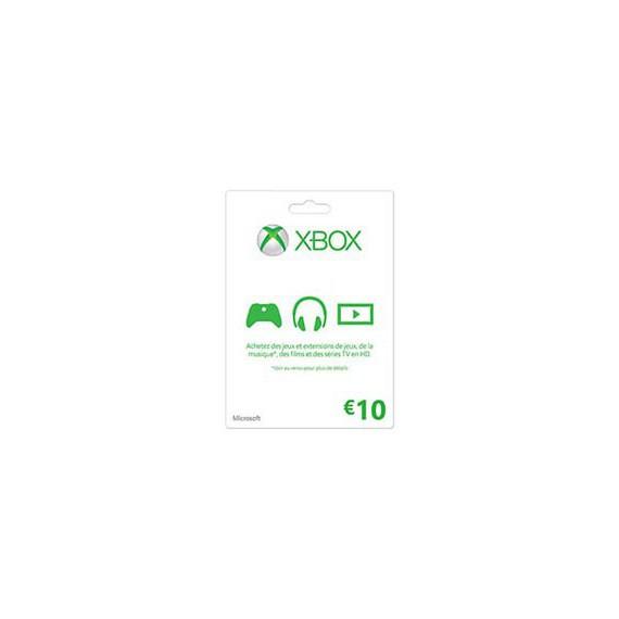 XBOX 1 MICROSOFT XBOX ONE Carte cadeau Xbox Live 10