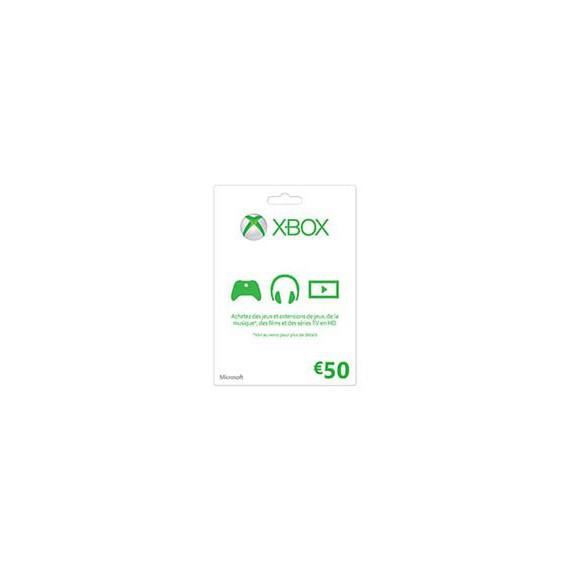 XBOX 1 MICROSOFT XBOX ONE Carte cadeau Xbox Live 50