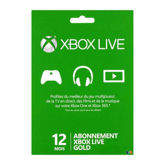 XBOX 1 MICROSOFT XBOX ONE Carte abonnement Xbox Live Gold 12 mois