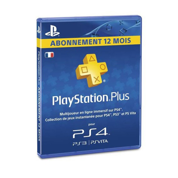 Play Station 3 Sony PS3 Carte PS Plus Abonnement 12 mois