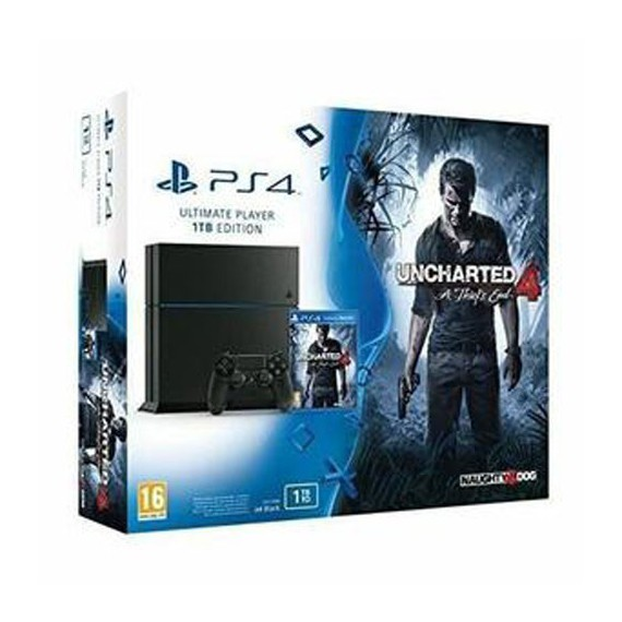 PS4 Sony Playstation CONSOLE 1To Pack Uncharted4 A Thief End