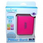 Power Bank WINX LT078 7800MAH PINK