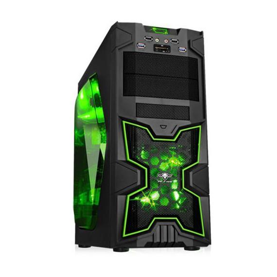 Boitiers Spirit of gamer Spirit of Gamer Boitier BOITIER X FIGHTER 41 Green