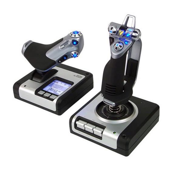 Controller et manette de jeux Logitech G SAITECK X52 FLIGHT CONTROL