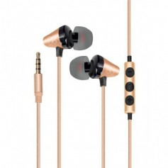 Ecouteur PROMATE Universal in ear Stereo GOLD