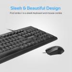 Ensemble clavier et souris USB filaire ergonomique