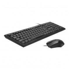 Ensemble clavier et souris USB filaire ergonomique -Promate-