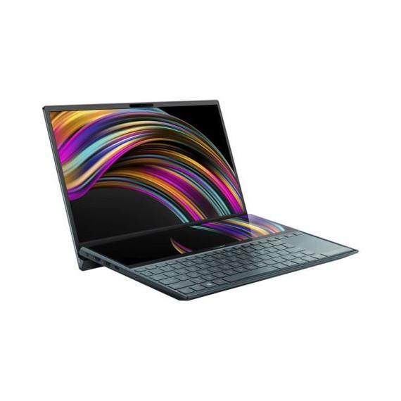 """Pc Portable Asus ZenBook Duo i7 10é Gén,Ecran 14"""" FHD - Bleu Céleste"""