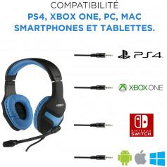 Casque Gaming Konix Mythics PS-400 pour PS4 Bleu