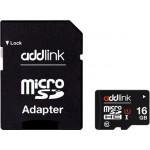 ADDLINK MicroSD 16GB UHS1 Class 10+ adapt