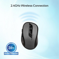 PROMATE Souris CLIX-7 Wireless Range Black