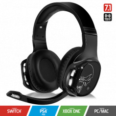 Casque avec Microphone SPIRIT OF GAMER XPERT H1100  sans fil - SON VIRTUEL 7.1