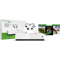 Pack Console Microsoft Xbox One S All Digital 1 To Blanc 3 Jeux inclus