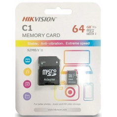 Carte memoire microSD HIKVISION 64 Gb Class 10 -UHS-I