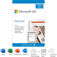 Microsoft OFFICE 365 PERSONAL 32/64b FR + 1TO STOCKAGE