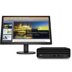 "Pc bureau HP Mini PC 260 G4 DM i3-10é, écran 20.7"""