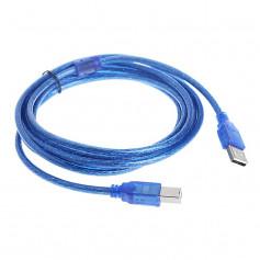 CABLE USB type AB (pour imprimante) 1,5m BLUE
