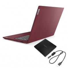 """Pc Portable Lenovo IP3, i3 10é Gén, Ecran 15"""" HD- CHERRY RED"""